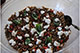 Lentils with feta cheese salad